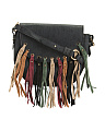 Fringe Anna Leather Saddle Bag