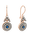 Made In Turkey Sterling Silver Blue Sapphire And Cz Earrings