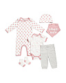 Newborn Girls Stay Magical 6pc Layette Set