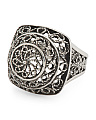 Made In Turkey Sterling Silver Filigree Dome Ring
