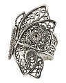 Made In Turkey Sterling Silver Filigree Butterfly Ring