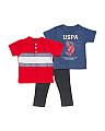 Toddler Boys 3pc Polo & Tee & Pant Set