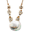 Puca Shell Wood And Abalone Necklace
