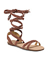 Ankle Wrap Suede Sandals