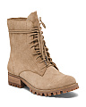 Combat Inspired Suede Boots