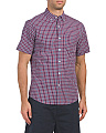 Short Sleeve Gingham Woven Shirt