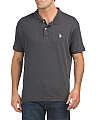 Heathered Interlock Classic Polo