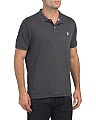 Heather Interlock Classic Polo