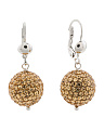 Made In Italy Sterling Silver Crystal Ball Earrings