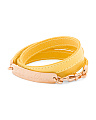 Made In Italy Yellow Leather Bracelet