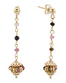 Made In Italy 14k Gold Tourmaline Drop Earrings