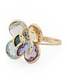 Made In Italy 14k Gold Multi Gemstone Ring