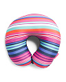 Striped Microbead Travel Pillow