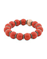 Made In Italy 18k Gold Plated Sterling Silver Coral Bracelet
