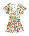 Big Girls Botanical Ruffle Romper