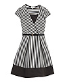Big Girls Belted Striped Dress