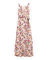 Big Girls Floral Ruffle Maxi Dress