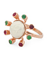 Made In Italy Rose Gold Plated Sterling Silver Baroque Pearl Ring