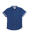 Big Boys Nautical Woven Shirt