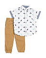 Toddler Boys 2pc Dino Woven & Jogger Set