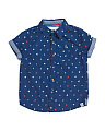 Little Boys Nautical Woven Top