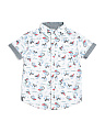 Little Boys Tropical Surfing Short Sleeve Woven Shirt