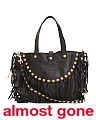 Made In Italy Fringe Leather Hobo