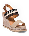 Double Band Multi Color Fabric Wedges