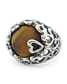 Made In Israel Sterling Silver Tigers Eye Ring