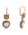 Made In Italy Rose Gold Plated Sterling Silver Heart Earrings
