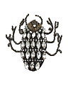 Hand Beaded Beetle Pin