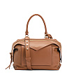 Made In Italy Medium Leather Sway Satchel