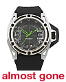 Men's Nyc Silicone Strap Watch With Toxic Green Accents