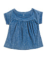 Big Girls Acid Wash Chambray Shirt