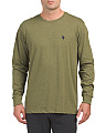 Long Sleeve Heather Crew Neck Tee