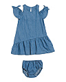 Infant Girl Denim Dress With Matching Bloomers
