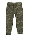Little Boy Cargo Joggers