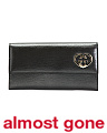 Made In Italy Logo Patent Leather Wallet