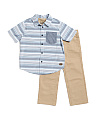 Toddler Boys 2pc Woven Set