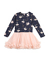 Toddler Girls Ballerina Dress With Mesh Skirt