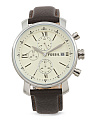 Men's Rhett Chrono Leather Strap Watch