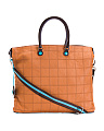 Made In Italy Leather Convertible Tote