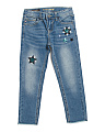 Little Girls Stars In The Sky Skinny Jeans