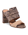 Python Embossed Leather Sandals