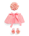 3pc Tutu Set With Headband & Sandals