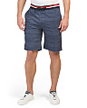 Pull On Shorts With Ribbed Waistband