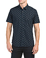 Short Sleeve Stretch Neat Print Shirt