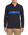 Textured Pique Long Sleeve Polo