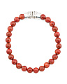 Made In Israel Sterling Silver Coral Beaded Necklace