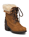Waterproof Lug Sole Suede Boots
